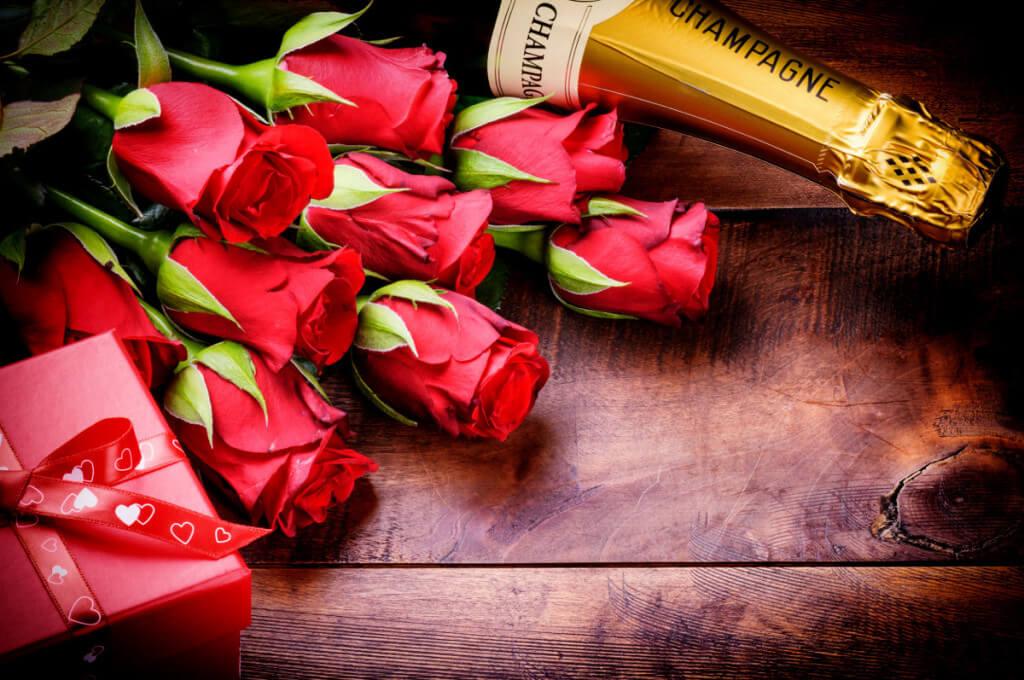 Roses et champagne